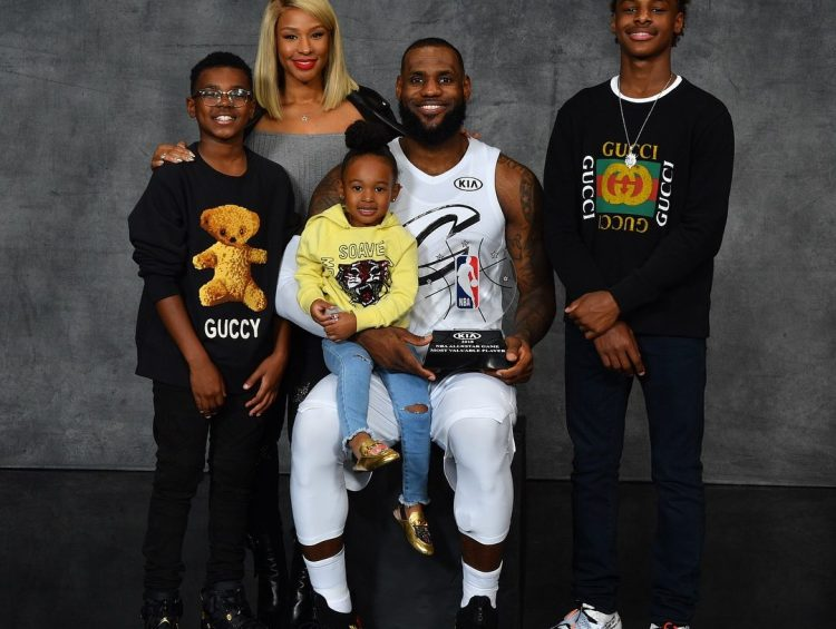 Bron and his kids